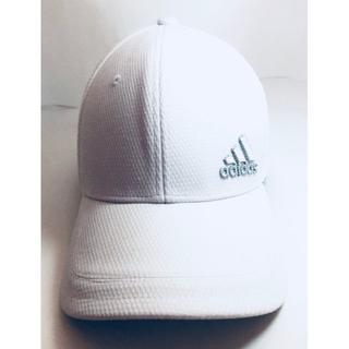 アディダス(adidas)のLady's アディダス キャップ 白/シルバー 刺繍 帽子 新品未使用(キャップ)