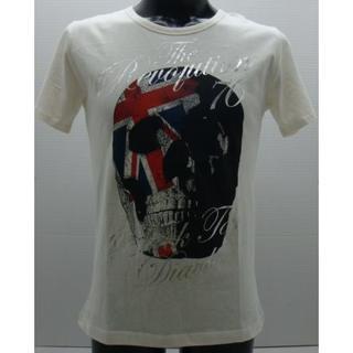 ディアブロ(Diavlo)の*0146・Diavlo ディアブロ 半袖Tシャツ ホワイト スカル サイズ48(Tシャツ/カットソー(半袖/袖なし))