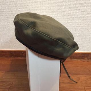 ジョンリンクス(jonnlynx)の希少 破格出品中 fumika uchida リバーシブル ベレー帽(ハンチング/ベレー帽)