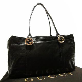グッチ(Gucci)の正規 美品 グッチ A4収納可 GG レザー 肩掛け ショルダー トート バッグ(トートバッグ)