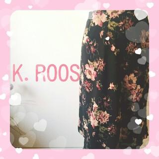 キャサリンロス(KATHARINE ROSS)の最終値下げ❕花柄♥可愛いスカート(ひざ丈スカート)