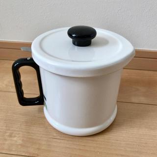 フジホーロー(富士ホーロー)の富士ホーロー オイルポット 1.5L 白色(容器)
