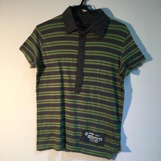 ディーゼル(DIESEL)のポロシャツ DIESEL バックプリント ボーダー柄 半袖ポロシャツ(ポロシャツ)