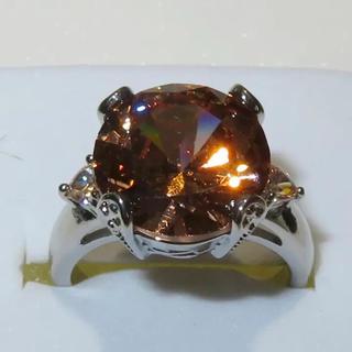 新品 刻印あり オレンジサファイア 指環 リング 11号(リング(指輪))
