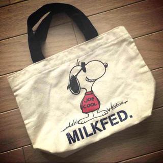 ミルクフェド(MILKFED.)のMILKFEDスヌーピーコラボエコバッグ(エコバッグ)