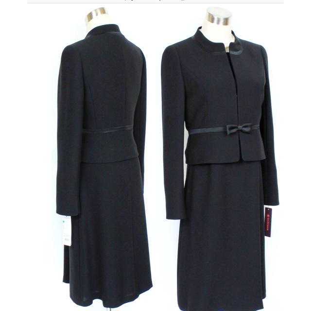 f70441f7a7b06 CLATHAS(クレイサス)の新品5.7万円クレイサス 15号 ブラックフォーマル アンサンブル スーツ