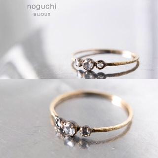 バーニーズニューヨーク(BARNEYS NEW YORK)のnoguchi  ホワイトダイヤリング  #8(リング(指輪))