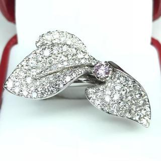 1409 ピンクダイヤモンド0.241ct ダイヤモンド2.93ct WGリング(リング(指輪))