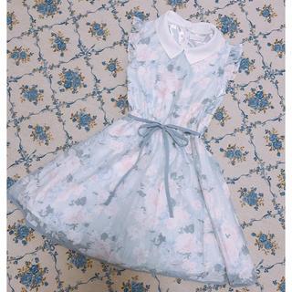 リズリサ(LIZ LISA)のLIZLISA*花柄お嬢様ワンピース(ミニワンピース)