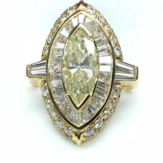 1410 ダイヤモンド2.023ct 脇石ダイヤモンド1.92ct K18リング(リング(指輪))