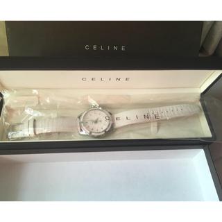 セリーヌ(celine)の【美品CELINE腕時計】セリーヌ  ラベニュー ホワイト (腕時計)
