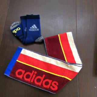 アディダス(adidas)のアディダス スリムスポーツタオル ・アディダス ソックス(タオル/バス用品)
