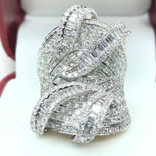 1412 ダイヤモンド4.10ct WG ピンクゴールド リング 14号(リング(指輪))