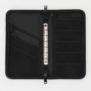 ムジルシリョウヒン(MUJI (無印良品))の無印 パスポートケース 家計簿 黒 ブラック リフィールなし(ポーチ)