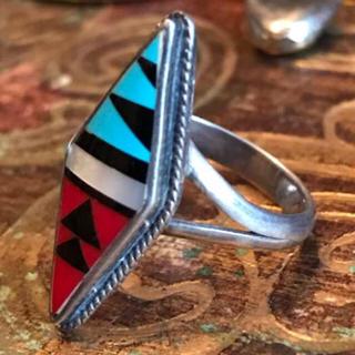 ✳︎ 70s 80s U.S. ズニ族 Vintage Silver Ring (リング(指輪))