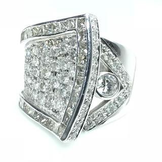 1415 ダイヤモンド 2.651ct Pt900 プラチナリング 14号(リング(指輪))
