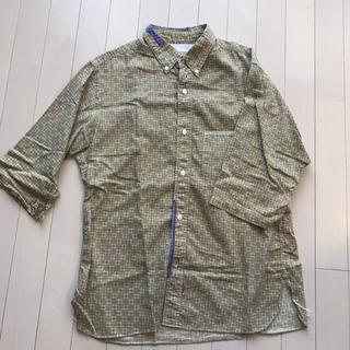 アナクロノーム(anachronorm)の◆値下げ:七分袖 柄シャツ ◆日本製(シャツ)