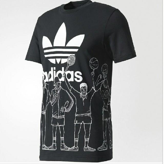 adidas(アディダス)のアディダス オリジナルス トレフォイル グラフィック Tシャツ 新品 未開封 メンズのトップス(Tシャツ/カットソー(半袖/袖なし))の商品写真