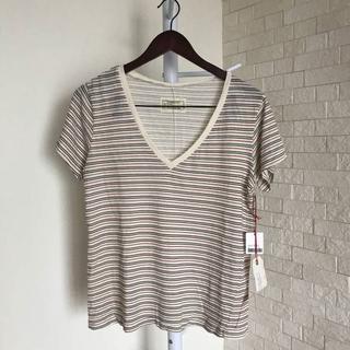 カレントエリオット(Current Elliott)の新品 カレントエリオット レディスVネックTシャツ M オフホワイト /T122(Tシャツ(半袖/袖なし))