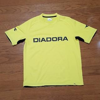 ディアドラ(DIADORA)のDIADORA スポーツシャツ イエロー M(ウェア)