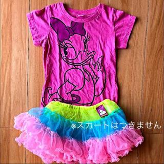 ユニクロ(UNIQLO)のディズニー デイジー ピンクT シャツ 120cm  UT(Tシャツ/カットソー)