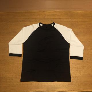 エービーエックス(abx)のabx エービーエックス 七分袖 シャツ 2 ブラック ホワイト 美品(Tシャツ/カットソー(七分/長袖))