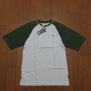 アディクト(ADDICT)のADDICT アディクト/半袖Tシャツ ホワイト×オリーブ 白 サイズM 新品(Tシャツ/カットソー(半袖/袖なし))