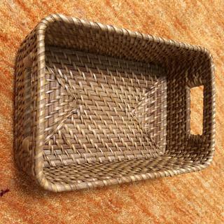 ムジルシリョウヒン(MUJI (無印良品))の無印良品 ラタンボックス取っ手付 used美品(ケース/ボックス)