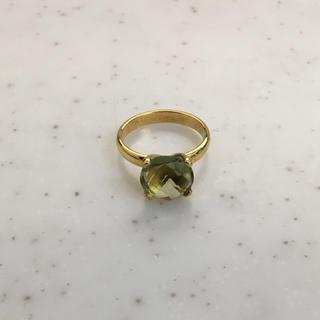 大粒 天然石 グリーンアメジスト 13号(リング(指輪))