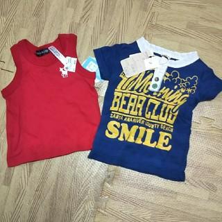 リトルベアークラブ(LITTLE BEAR CLUB)の新品未使用♪夏物トップス2枚セット☆サイズ80(Tシャツ)