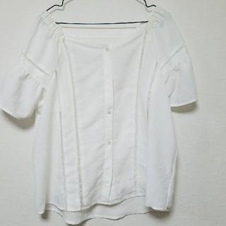 ジーユー(GU)のGU ややオフショルブラウス(シャツ/ブラウス(半袖/袖なし))