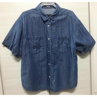ジーユー(GU)のGU デニムシャツ 半袖(シャツ/ブラウス(半袖/袖なし))