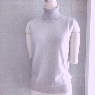 マルタンマルジェラ(Maison Martin Margiela)のMAISON MARGIELA グレー タートル ニット XS 新品未使用(Tシャツ/カットソー(半袖/袖なし))