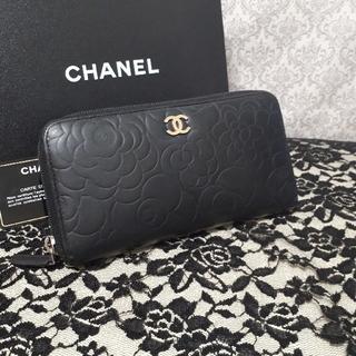 d6a784b5d43c シャネル(CHANEL)のカメリア 長財布 ラウンドジップ CHA NEL シャネル 黒(財布