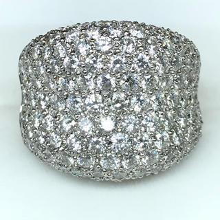 1418 ダイヤモンド4.68ct WGK18 ホワイトゴールド リング 13号(リング(指輪))