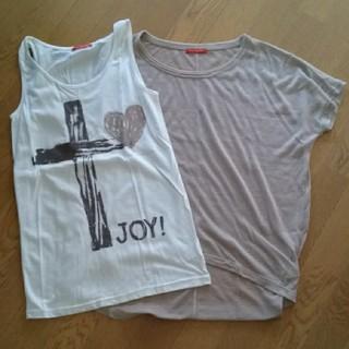 アンナケリー(Anna Kerry)のAnna Kerry タンクトップ Tシャツ セットアップ カジュアル (Tシャツ(半袖/袖なし))