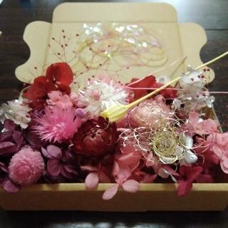ピンク系おすそわけ花材mix(ドライフラワー)