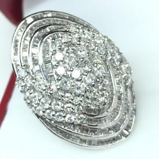 1420 ダイヤモンド5.00ct PT900 プラチナリング 12号(リング(指輪))