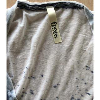 エルエヌエー(LnA)のfLuxus sizeS ホワイト系 まだら  ネイビー系 Vネック tee(Tシャツ(半袖/袖なし))