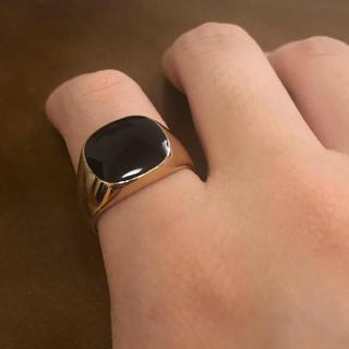 ブラックストーン カレッジリング ゴールドリング(リング(指輪))