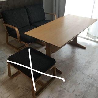 ムジルシリョウヒン(MUJI (無印良品))の無印良品 リビングでもダイニングでもつかえる ソファチェア/テーブル(ダイニングテーブル)