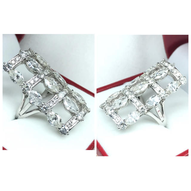 1423 ダイヤモンド5.45ct Pt900 プラチナリング 14号 レディースのアクセサリー(リング(指輪))の商品写真
