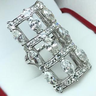 1423 ダイヤモンド5.45ct Pt900 プラチナリング 14号(リング(指輪))
