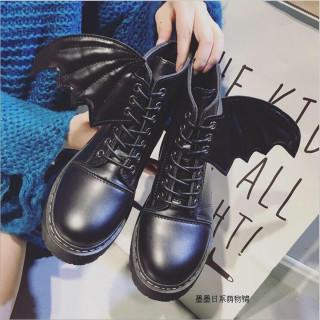 個性的 原宿系 ロック パンク コウモリ ブーツ 黒 DW42ブラック(ブーツ)