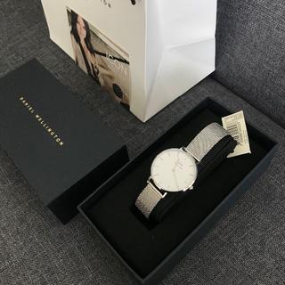 ダニエルドッド(DANIEL DODD)のDW CLASSIC ホワイト文字盤 28MM シルバー(腕時計)