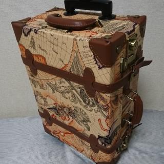 【美品】地図柄キャリーケース(スーツケース/キャリーバッグ)