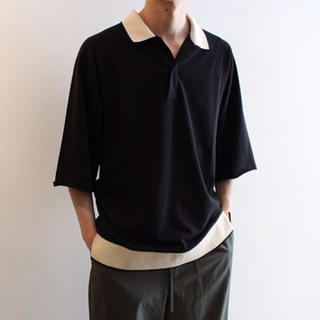 サンシー(SUNSEA)のsunsea polo knit shirt(ポロシャツ)