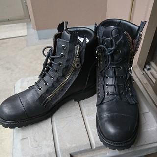 ホーキンス ダブルジップブーツ 黒(ブーツ)