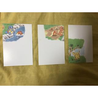 ポケモン(ポケモン)のポケモン 50円葉書×3(使用済み切手/官製はがき)