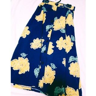 リズリサ(LIZ LISA)のリズリサ 花柄ロングスカート(ロングスカート)